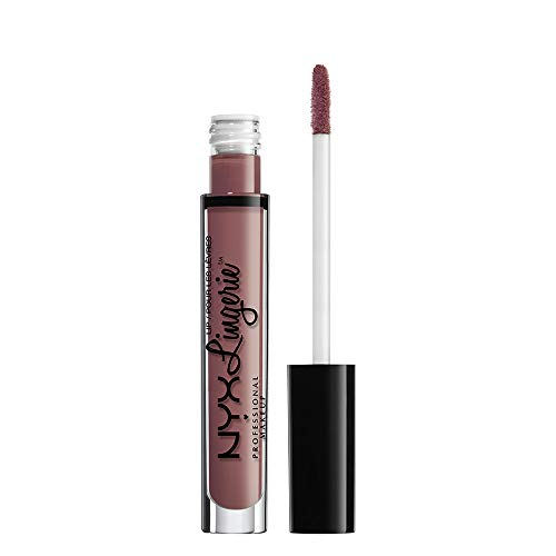 NYX PROFESSIONAL MAKEUP Pintalabios Lip Lingerie Liquid Lipstick, Acabado Cremoso y Mate, Larga Duración - Tono French Maid (800897077945)