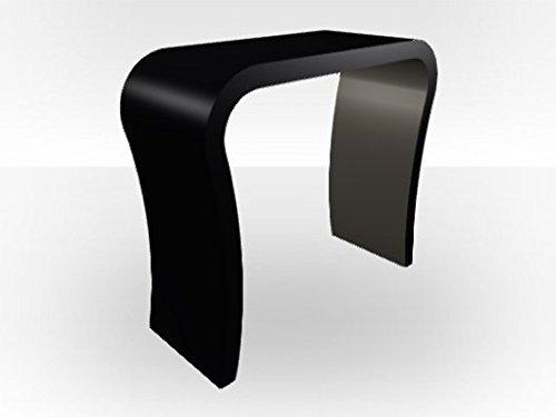 Tavolo consolle esterno curvo Zespoke nero – interno lucido grigio scuro
