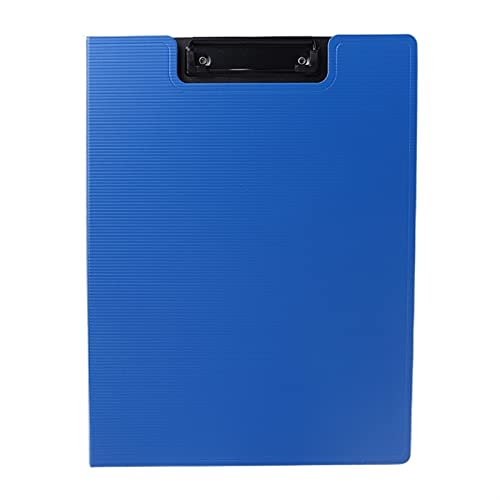 Portapapeles Carpeta de plástico azul carpeta A4 Carpeta de archivos A4 Tablero de escritura Organizador de almacenamiento Policatura para documentos No se rompen fácilmente 32x24cm Escuela, oficina,