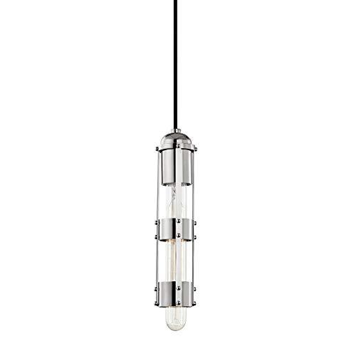 Mitzi H272701-PN Violet 11.5 Inch 1-Light Pendant, Polished Nickel
