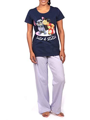 Disney Damen Lilo und Stitch Schlafanzug Violett Large
