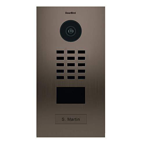 Doorbird D2101BV IP video-deurintercomsysteem, 2 deurbel, bronskleurig