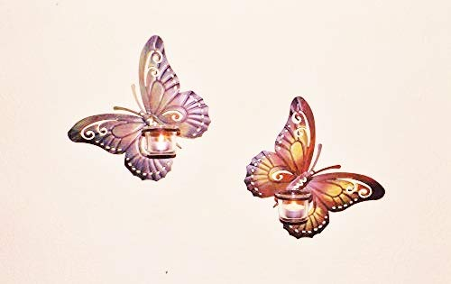 Dallaknaller Wandkerzenhalter Schmetterling Teelichthalter
