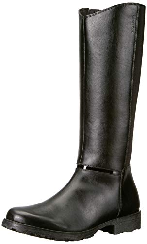 Geox Girls' Olivia 11 Insulated Tall Boot Knee High, Black, 27 Medium EU Toddler (10 US)