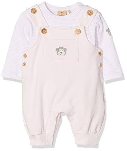 Bellybutton mother nature & me Unisex Baby Set 2 TLG. (Latzhose + T-Shirt 1/1 Arm) Bekleidungsset, Rosa (Bb Rose 2251), 80