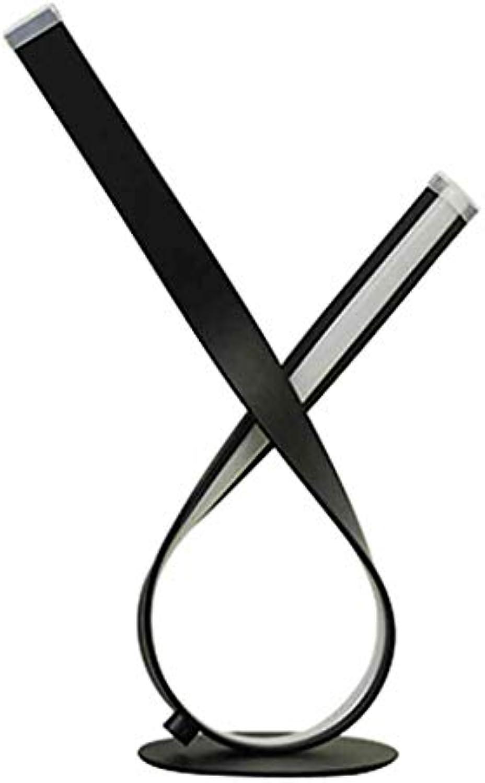 HLHHL-Lamp Tischlampe Eisen Kunst Nachttisch Schreibtischlampen Schwarz Ribbon Form Nachtlichter Schlafzimmer Wohnzimmer Wohnheim Kaffee Tischdekoration