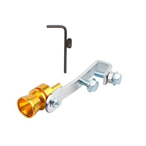 Silbato turbo DIYARTS para tubo de escape de coche, silenciador de aleación de aluminio, válvula de escape de sonido, silbato universal de simulador para auto modificado