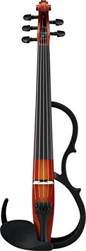 Yamaha Silent 5cuerdas para violín 4/4sv255br, color marrón Violín Eléctrico, Color blanco