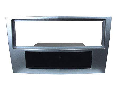 Facade autoradio 1DIN pour Opel Corsa D 06-11 - Argent - avec vide poche ADNAuto