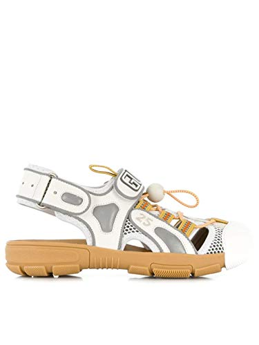 Gucci Luxury Fashion Damen 57044198D108475 Weiss Leder Sandalen | Herbst Winter 19