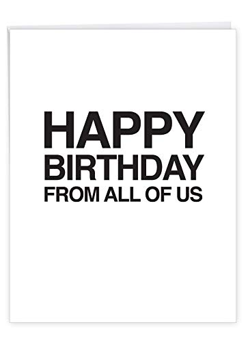 NobleWorks - Your Effin Gift - Jumbo, Funny Happy Birthday Card for Adults (Big 8.5 x 11 Inch) - Bday Notecard with Envelope J7189BDG-US