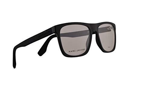 Marc Jacobs Marc 360 Brille 54-17-150, mattes Schwarz mit Demo transparenten Gläsern und Gummibügeln 003 Marc360