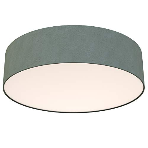 Briloner Leuchten LED Deckenleuchte, Stoffleuchte, Grau, 1.600 Lumen, 3.000 Kelvin, Sonstige Metalle