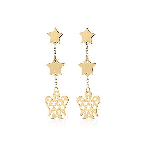 Orecchini da donna stelle e angeli ROBERTO GIANNOTTI in oro giallo NKT285
