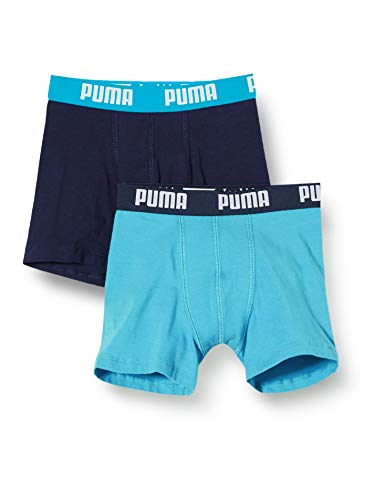 PUMA Boy's Underwear-Boxer Shorts-Basic (2-Pack), Bright Blue, 134-140...