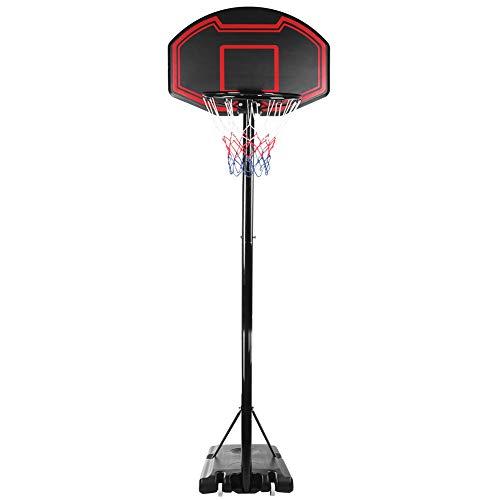 Juego de Soportes de Baloncesto Ajustables Tablero Trasero de Red de aro Juguete para niños Interior al Aire Libre