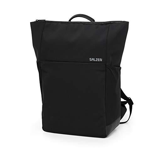 SALZEN Plain Backpack - Backpack, Businessrucksack - Phantom Black - Black