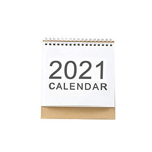 KLOVA Calendario de Escritorio, 2021 Calendario de Escritorio Simple Bobina en inglés Planificador mensual Diario Calendario Organizador de Agenda Anual, Tamaño S