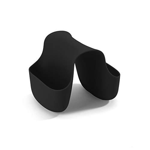 UMBRA Saddle. Porte-éponge double Saddle, en caoutchouc pour double évier de cuisine, rangement pour éponge à vaisselle, coloris noir