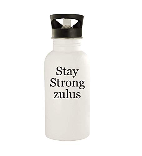 Stay Strong zulus - 20oz Stainless Steel Water Bottle, White
