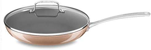 """popular KitchenAid online sale KC3H112KLTZ KitchenAid 12"""" Hard Anodized 2021 Non-Stick Skillet with lid outlet sale"""