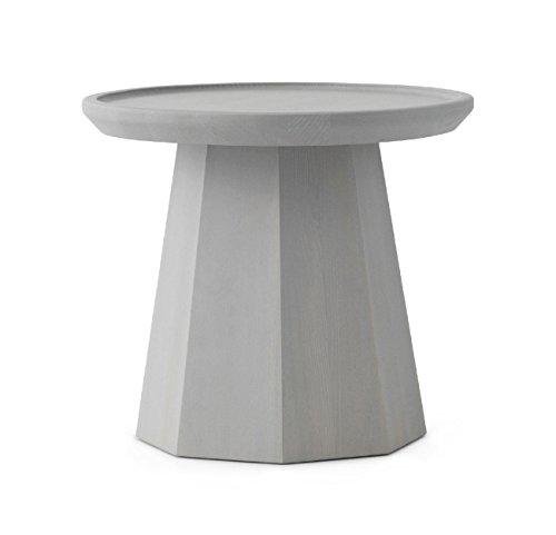Normann Copenhagen – Tavolino – Pine – Grigio chiaro – Altezza 40,6 x Ø 45 cm