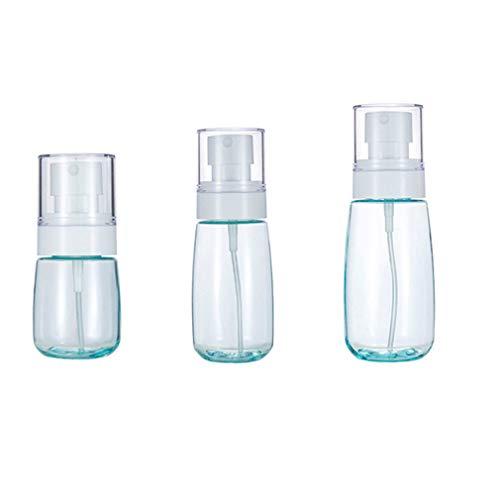 30 ml 60 ml 80 ml - 3 piezas Atomizadores de líquido Botellas de viaje Frascos de spray pequeñas vacías para Maquillaje Cosmético Cabello Champú Artículos de tocador