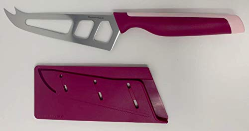 Tupper Tupperware D196 - Cuchillo para queso, serie universal, ergonómico, color rosa