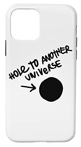 Hole To Another Universe Caja del Teléfono Compatible con iPhone 11 Pro Cubierta de Plástico + Silicona Duro Hard Plastic Cover
