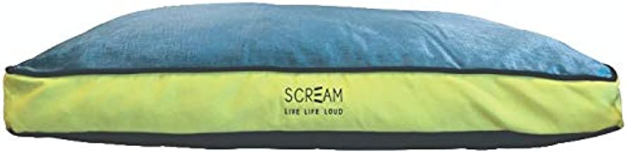 SCREAM Gusset Pet Bed 99x72x18cm, Loud Green