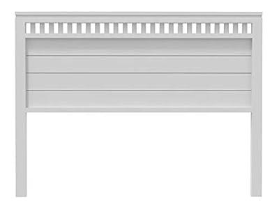 materiales: madera maciza de pino insigni medidas:190x120x3(ancho,alto,grueso) acabado: blanco mate cabecero de una pieza con anclajes para la pared