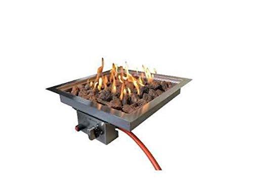 Enjoyfires Einbaubrenner 32x32x15 cm für Feuerstelle, Gasfeuerstelle, Rostfreier Stahl