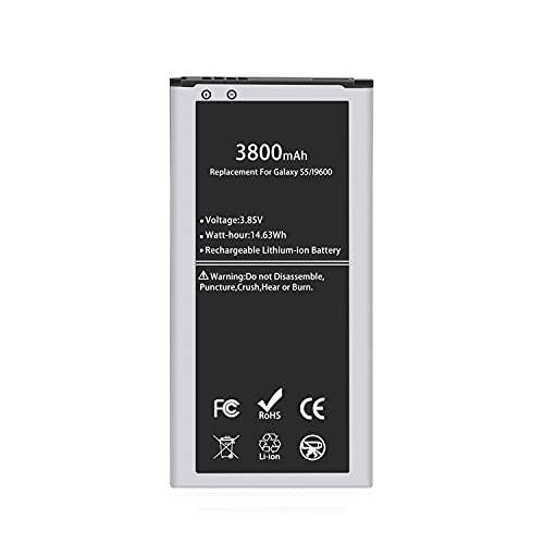 Galaxy S5 Battery, 3800mAh Li-ion Replacement Battery for Galaxy S5 [ I9600, G900F, G900V (Verizon), G900T, G900A (AT&T),G900P(Sprint)