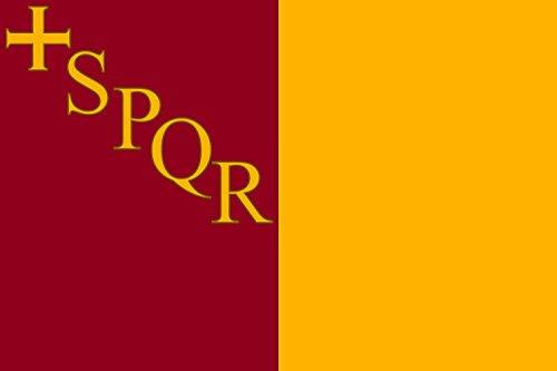 magFlags Bandera Large Rome with SPQR | Roma amb SPQR | Bandera Paisaje | 1.35m² | 90x150cm