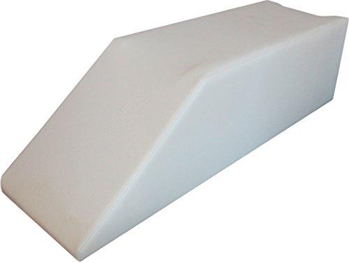 Beinhochlagerungspolster Lagerungskissen Lagerungskeil Schaumstoff mit Kunstlederbezug, weiß
