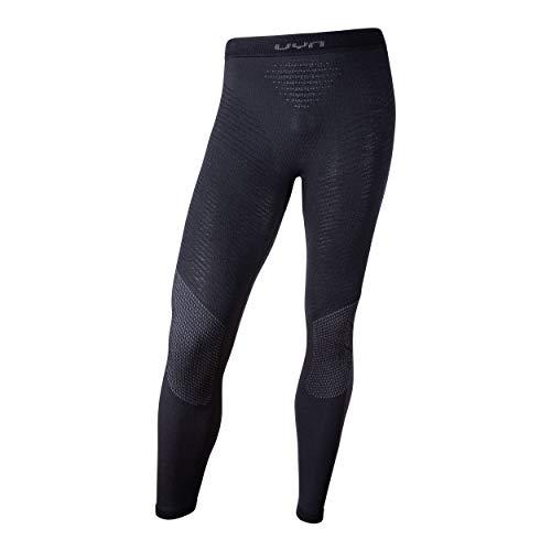 UYN Fusyon Underwear, Pantalone Intimo Termico Lana Merino Uomo, Black/Anthracite/Anthracite, S/M