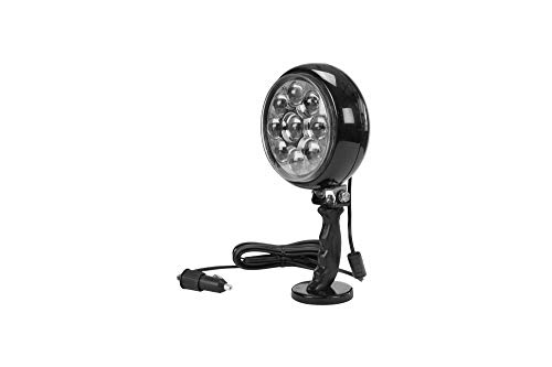 30W LED 6' Spotlight with 100lb Magnetic Base - 215 000 Candlepower - 12V DC - Multiple Cord Options