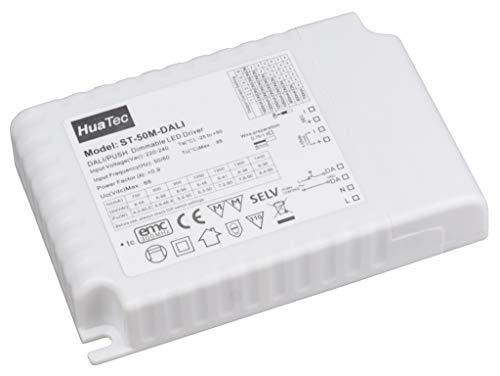 HuaTec LED Trafo 50W DALI 1-10V Taster (PUSH) Dimmbar 700-1400mA Multiausgang Multifunktion LED Netzteil Treiber Driver Transformator