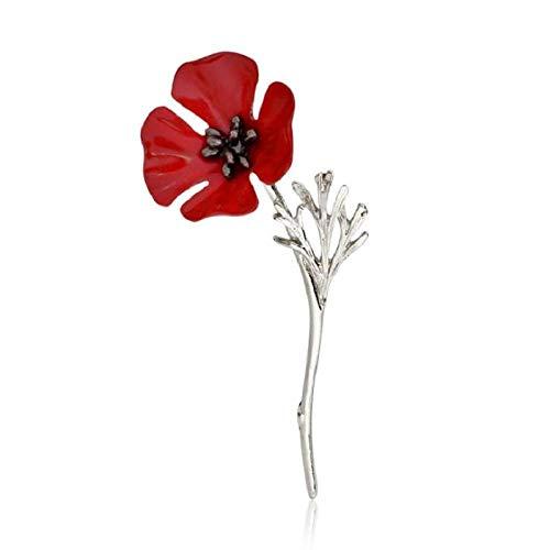 kliy Broschen & Anstecknadeln Für Damenblumenbrosche Pin Mode Frauen Maki Jacken Rote Blume Corsage Geschenk Rote Rose Pins Schmuck Geschenk Für Freunde-C
