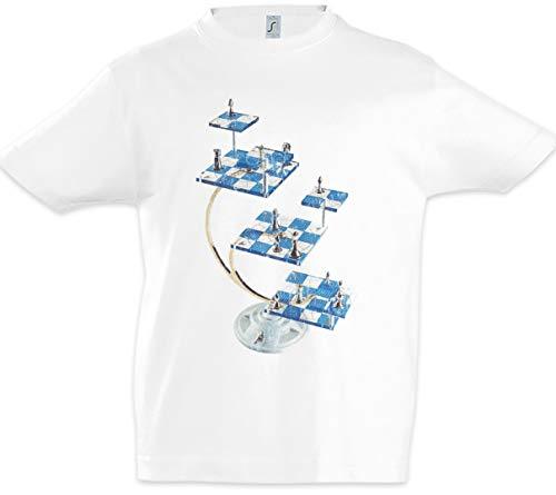 Urban Backwoods Star Chess Niños Chicos Kids T-Shirt Blanco 2 Años