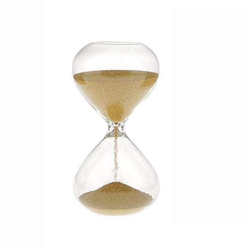 QWSNED Reloj de arena, 3 minutos reloj de arena, vidrio reloj de arena accesorios de decoración para el hogar, reloj de arena de gestión de tiempo, reloj de arena de oro