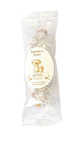150g Feine Salami mit Steinpilzen aus Frankreich / Saucisson de Porc aux Cèpes, luftgetrocknete Salami