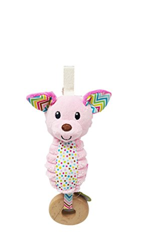 BKIDS FRANCE Hochet Sonore Chien Rose Clair