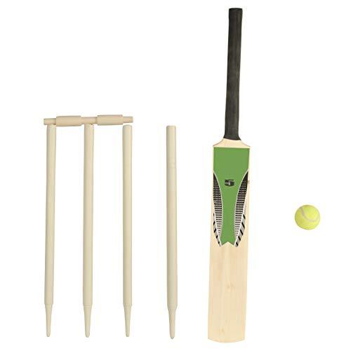 WOWOW Toys - Juego de Bate de críquet para niños (Madera)