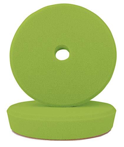 ALCLEAR Set de 2 Discos pulidor de dureza Media para máquinas RUPES, para un Sistema de Disco Ø 95/80 x 25 mm, Verde