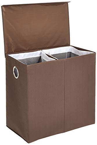 AmazonBasics Wasgoed-verzamelaar met magnetisch deksel, inklapbaar