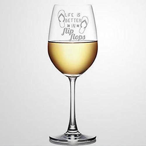Weinglas mit Aufschrift