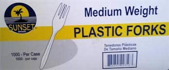 Discount Excellence mail order Sunset: Medium Weight Plastic 1000 Ct. Forks