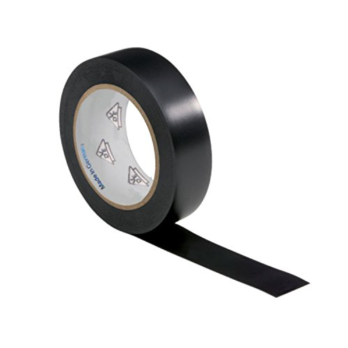 AUPROTEC 1 Rolle VDE Isolierband Isoband Elektriker Klebeband PVC 15mm x 10m DIN EN 60454-3-1 Farbe: schwarz