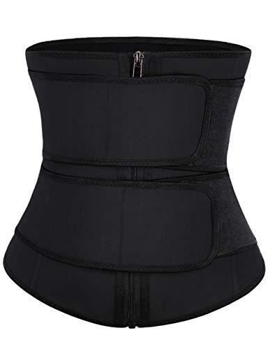 FeelinGirl Corsetto Donna Shapewear Donna Elastico con Zip Migliorata Intimo Modellante Body Shaper Snellente Elegante Waist Trainer